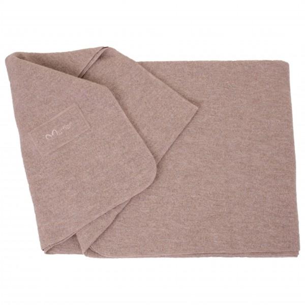 Blanket Logo - Wolldecke stone