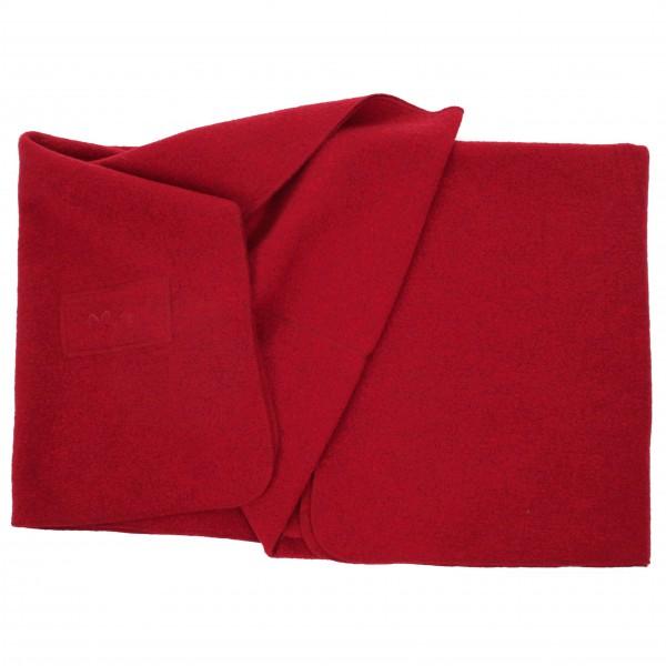 Blanket Logo - Wolldecke ruby
