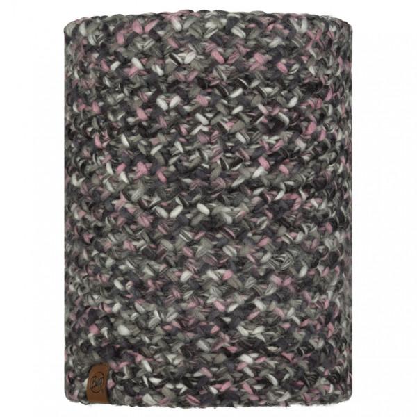 Buff - KnittedandPolar Neckwarmer Buff Margo - Tube Scarf Size One Size  Grey/black