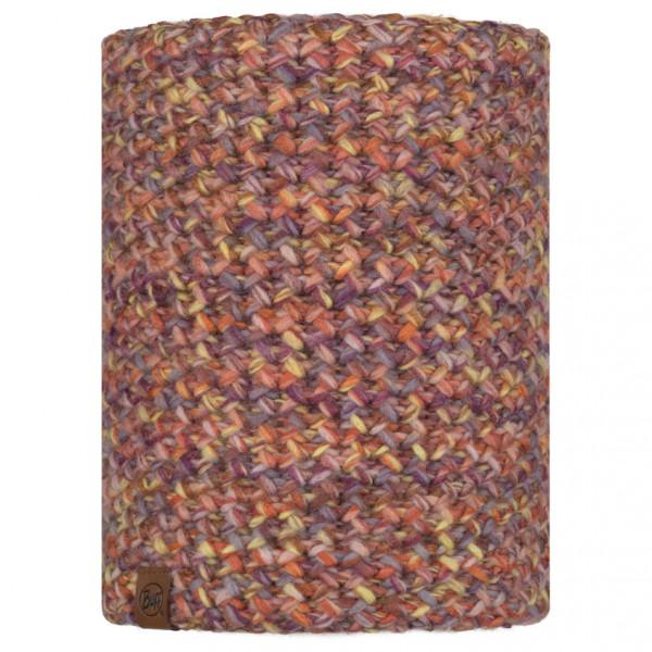 Buff - KnittedandPolar Neckwarmer Buff Margo - Tube Scarf Size One Size  Brown/red/grey