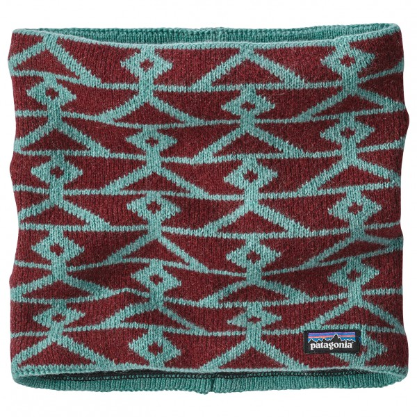 Patagonia - Neck Warmer - Écharpe taille One Size, rouge/gris/turquoise
