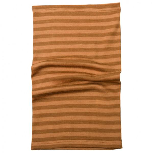 Image of Joha Kid's 624 Stripe Neckwarmer Merino Wool Schal Gr 1-3 Years;10-14 Years;4-6 Years;7-9 Years braun;oliv