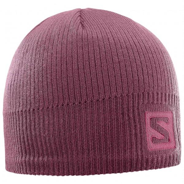 Salomon - Logo Beanie Mütze Gr One Size lila/rosa jetztbilligerkaufen