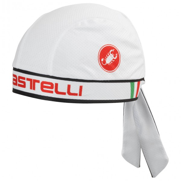 Castelli - Castelli Bandana - Radmütze Gr One Size grau/weiß 4513048001