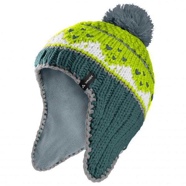 Vaude - Kids Knitted Cap IV - Bonnet taille M, gris/vert/turquoise