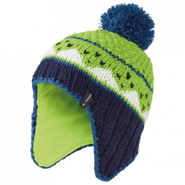 Vaude - Kids Knitted Cap IV - Bonnet taille M;S, gris/vert/turquoise;bleu/noir