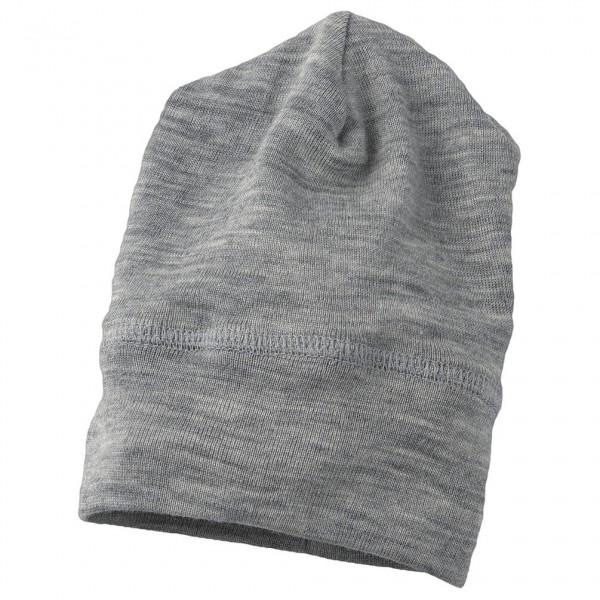 Engel - Baby Mütze Wolle/Seide - Mütze Gr 62/68 grau 705540-091-6268