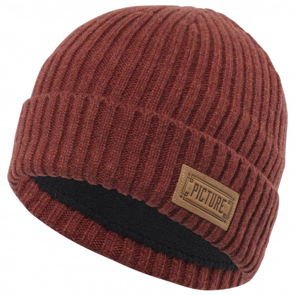 Picture - Ship Beanie - Bonnet taille One Size, rouge