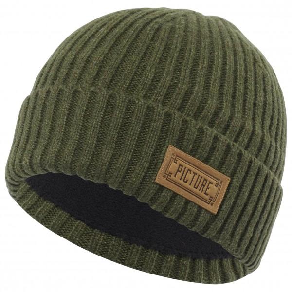 Picture - Ship Beanie - Bonnet taille One Size, vert olive/noir
