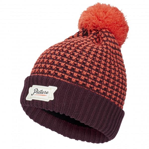Picture - Ale Beanie - Bonnet taille One Size, rouge/violet