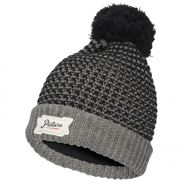 Picture - Ale Beanie - Bonnet taille One Size, noir/gris