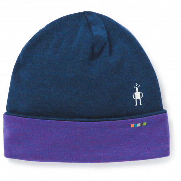 Smartwool - Merino 250 Pattern Cuffed Beanie - Bonnet taille One Size, bleu/violet