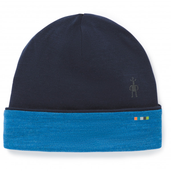 Smartwool - Merino 250 Pattern Cuffed Beanie - Bonnet taille One Size, noir/bleu