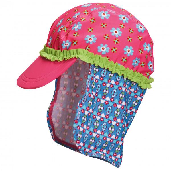 #Playshoes – Kid's UV-Schutz Mütze Blumen – Cap Gr 49 cm;51 cm;53 cm rosa/blau/grau#