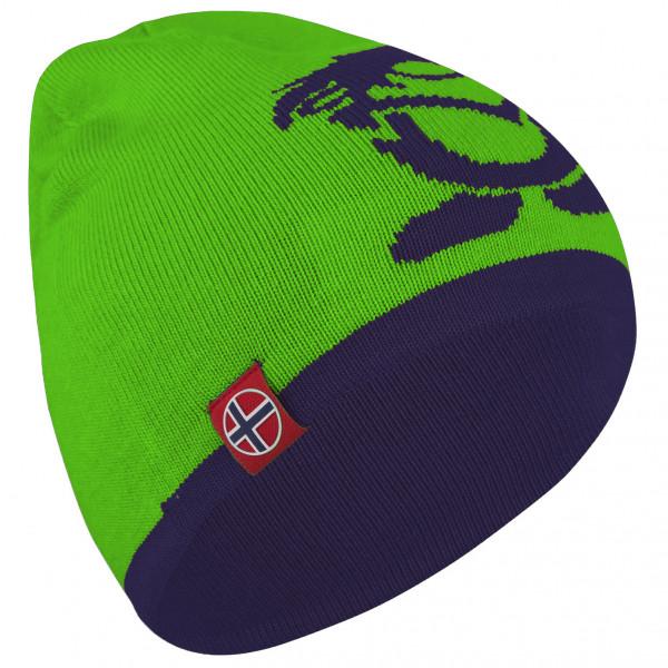 Trollkids - Kid's Troll Beanie - Mütze Gr 48-52 cm grün/lila 920-100-050