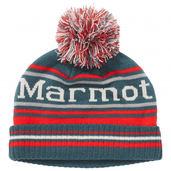 Marmot - Kid's Retro Pom Hat - Mütze Gr One Size rot/grau 17990-5987-ONE