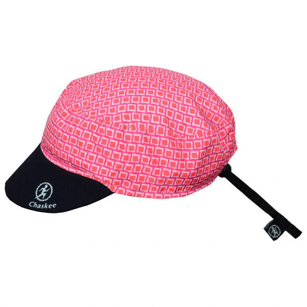 Chaskee - Reversible Cap Fancy Squares - Cap Size One Size  Pink/red/black