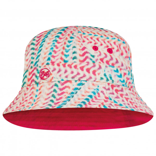 Buff - Kids Bucket Hat - Hat Size One Size  Pink/red/white