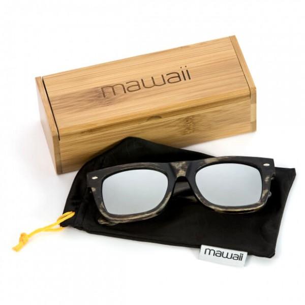 Mawaii - Timu polarized FGV Sonnenbrille beige/schwarz/grau