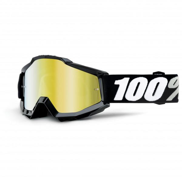 100% - Accuri Goggle Anti Fog Mirror S2 (VLT 28%) - Cykelbriller sort/hvid/grøn/grå/gul