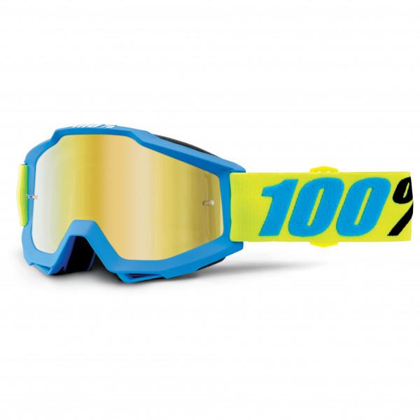 100% - Accuri Goggle Anti Fog Mirror S2 (VLT 28%) - Sykkelbrille, blå/gul;grått/svart/beige