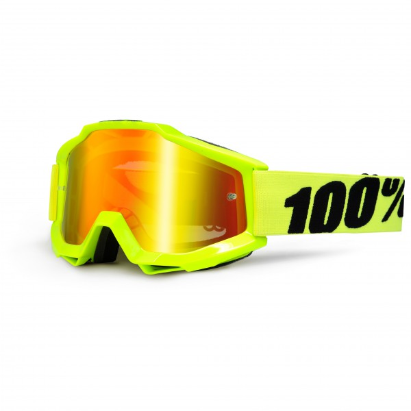 100% - Accuri Goggle Anti Fog Mirror S2 (VLT 38%) - Cykelbriller grøn/orange
