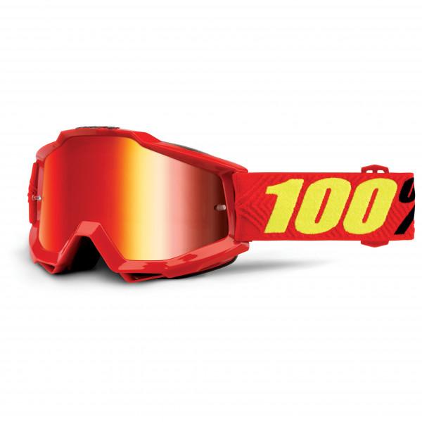 100% - Accuri Goggle Anti Fog Mirror S2 (VLT 38%) - Cykelbriller rød