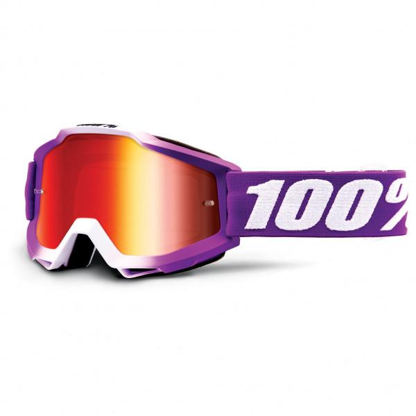 100% - Accuri Goggle Anti Fog Mirror S2 (VLT 38%) - Sykkelbrille, grønn/oransje