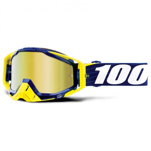 100% - Racecraft Goggle Anti Fog Mirror S2 (VLT 28%) - Sykkelbrille, gul/grønn/hvit