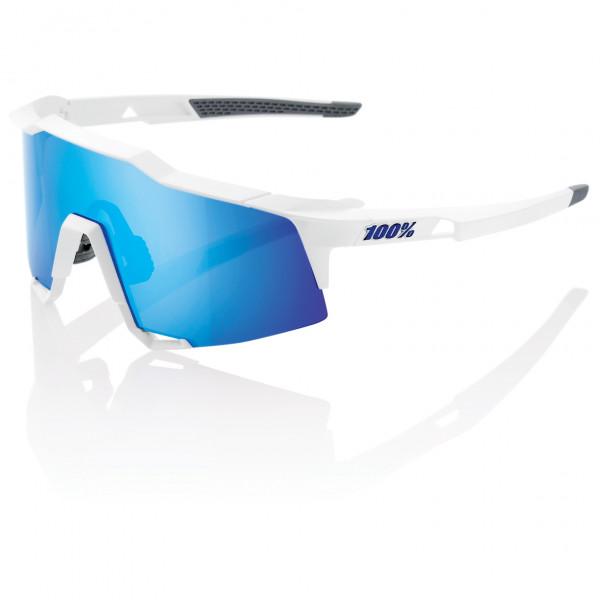 #100% – Speedcraft Tall Hiper Mirror S3 (VLT 15%) – Fahrradbrille weiß/blau/grau#