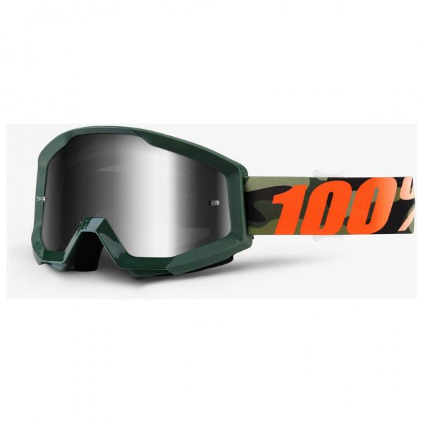 #100% – Strata Goggle Anti Fog Mirror S3 (VLT 14%) – Fahrradbrille weiß/grau/schwarz#