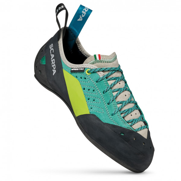 Scarpa - Womens Maestro Eco - Climbing Shoes Size 37 5  Black/turquoise/grey