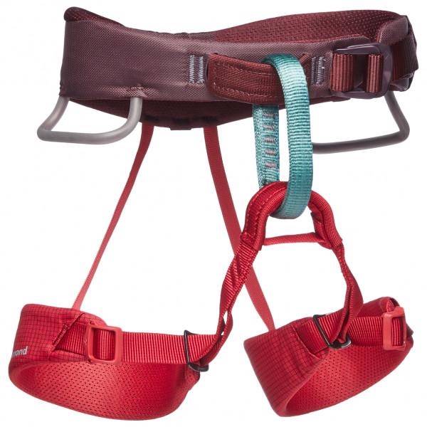 Black Diamond - Kids Momentum Harness - Climbing Harness Size One Size  Red/pink