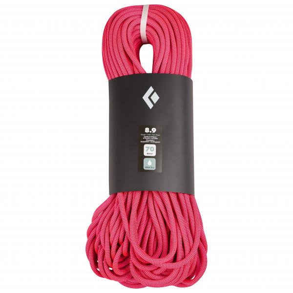 Black Diamond - 8.9 Rope Dry - Single Rope Size 70 M  Pink/black