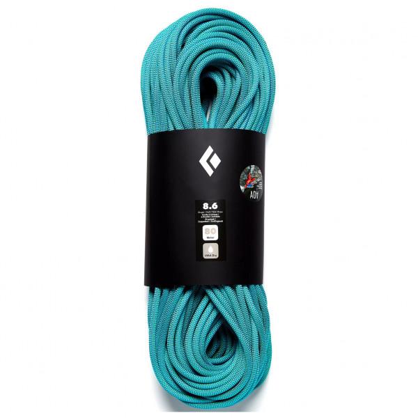 Black Diamond - 8.6 Rope Dry - Ondra Edition - Single Rope Size 80 M  Turquoise/black