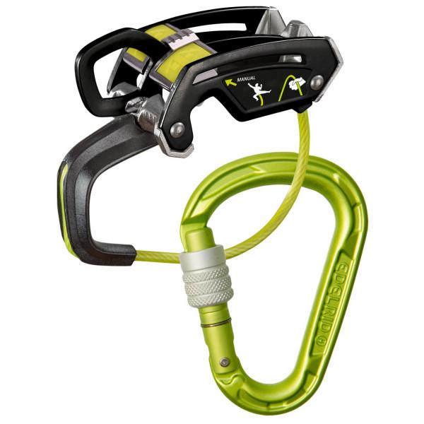 Edelrid - Giga Jul Belay Kit Strike Screw - Belay Device Size 175 G  Black/grey/yellow