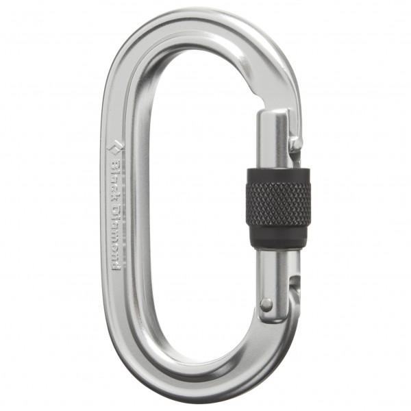 Black Diamond - Oval Locker Carabiner - Screwgate Carabiner Grey/black