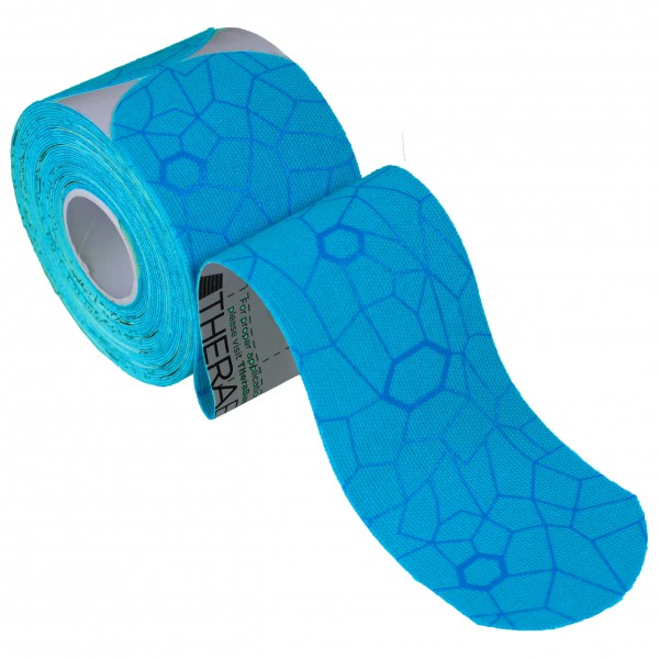 Thera-Band - Kinesiology Tape Precut Rolle (20-Pack) - Tape Gr 20 x 25,4 cm - 5 cm blau 12936