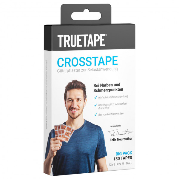 TRUETAPE - Crosstape Big Pack - Tape Gr 130 Stück beige 402