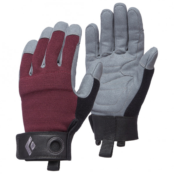 Black Diamond - Womens Crag Gloves - Gloves Size M  Grey/black/purple