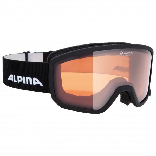 Alpina - Scarabeo S Quattroflex Hicon S2 - Skibrille schwarz/grau/beige 7260011