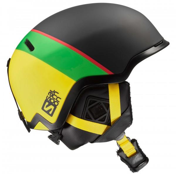 Hacker - Skihelm Gr 56-59 cm schwarz/gelb