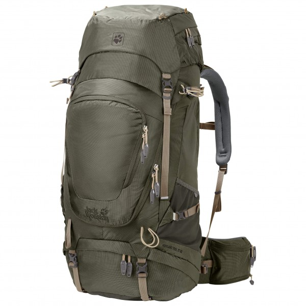 Jack Wolfskin Highland Trail XT 60 Trekkingrugzak maat 60 l olijfgroen-grijs-zwart