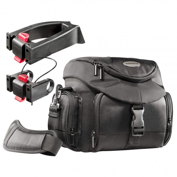 Mantona Set Premium Biker Fototasche + 2 Adapter maat One Size zwart