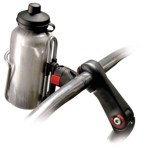 RIXEN & KAUL KLICKfix Bottleklick + Adapter Stuurtas grijs-zwart