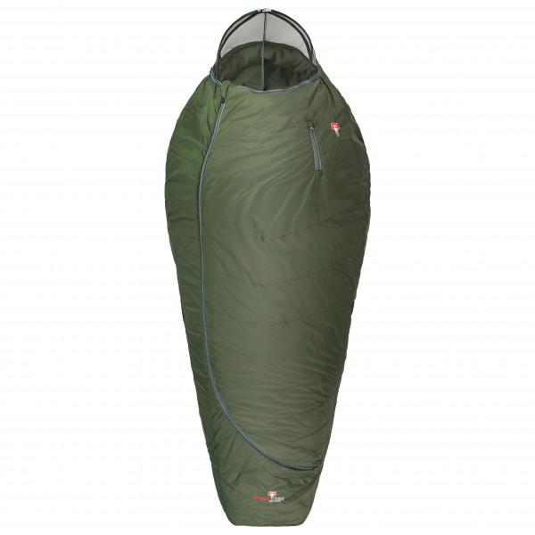 Grüezi Bag - Biopod Wolle Survival XXL Wide - Kunstfaserschlafsack Gr 205 cm Grün 9241