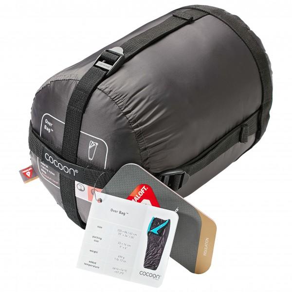 Cocoon - Overbag Ripstop Nylon & Primaloft - Kunstfaserschlafsack Gr 200 x 86 cm / 62 cm Espresso / Azure OB01