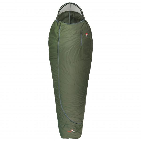 Grüezi Bag - Biopod Wolle Survival - Kunstfaserschlafsack Gr 185 cm Zip: Reverse-J Grün 9240