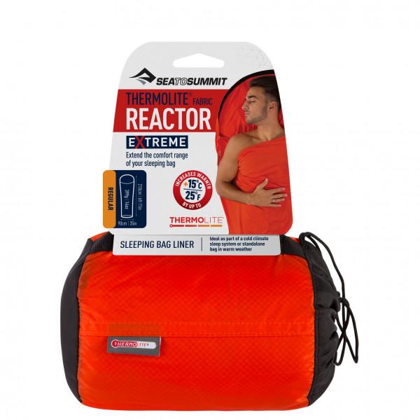 Sea To Summit - Thermolite Reactor Extreme - Travel Sleeping Bag Size Regular  Red/black