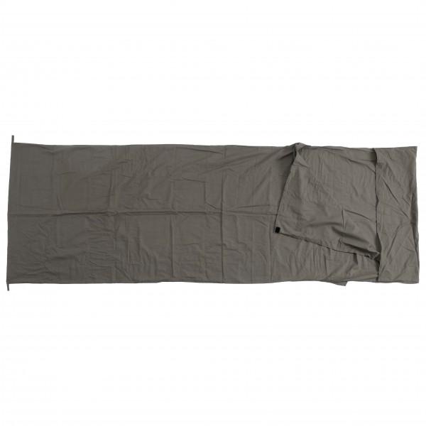 #Basic Nature – Baumwollinlett Deckenform Inlay – Reiseschlafsack grau/schwarz#